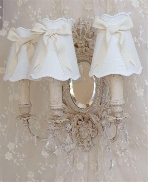 applique shabby chic applique branches miroir anges patine abat jour