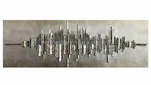 Tableau Metal Design : tableau design sonar aux reflets metalliques mobilier moss ~ Teatrodelosmanantiales.com Idées de Décoration