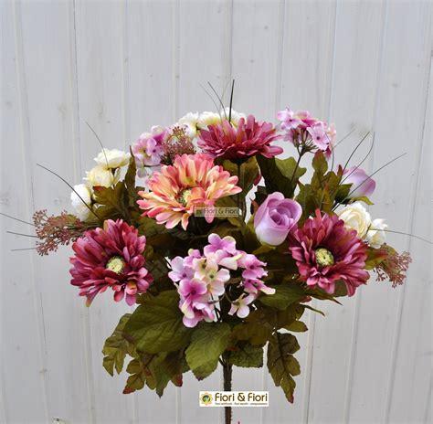 mazzi di fiori finti bouquet fiori artificiali country rosa