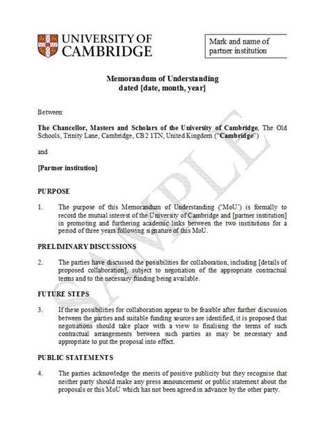 Memorandum Of Understanding Template 50 Free Memorandum Of Understanding Templates Word