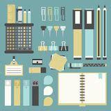 outils de bureau icônes de fournitures de bureau réglées illustration de