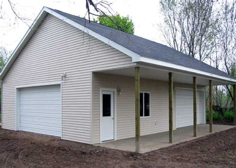Garage Plans With Porch by Pole Barn Garage With Porch Garage And Workshop
