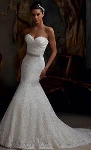 Bridal strapless trumpet wedding dress bela bridal for Trumpet wedding dress