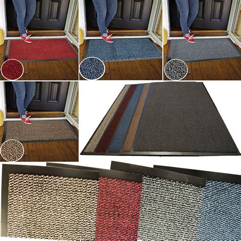 small doormat heavy duty non slip dirt barrier large small entrance