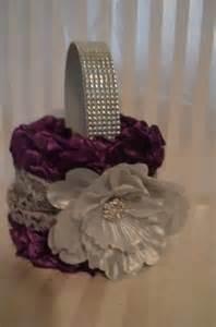 Purple Flower Girl Basket