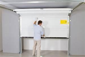 porte sectionnelle manuelle cobtsacom With porte garage sectionnelle manuelle