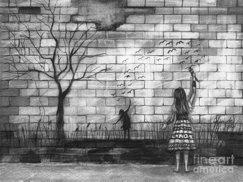 wall drawing pencil to be drawing by j ferwerda Brick
