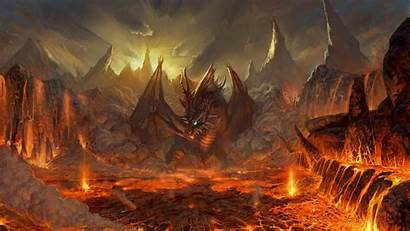 Fire Background Wallpapers Dragon Desktop Windows Android