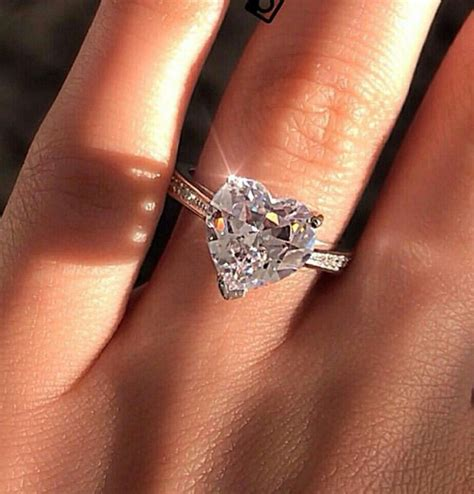heart shaped engagement ring engagement rings