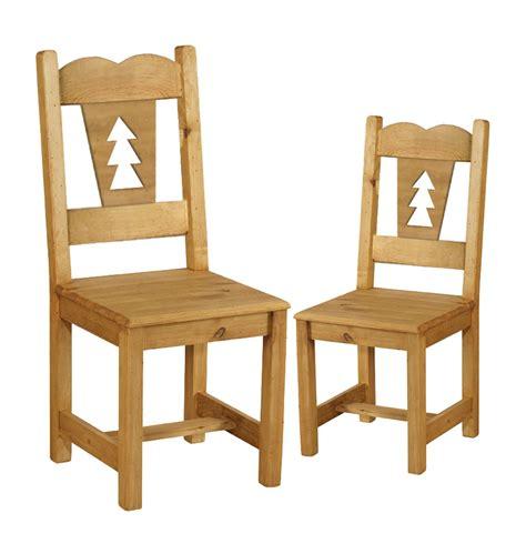 chaise en pin chaise rustique en pin avec sapin découpé x2 grenier alpin