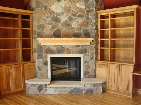 Living Room Design With Stone Fireplace And Luxury