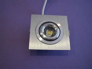 Mini Spot Led Encastrable : mini spot led carr aluminium 1x3w blanc chaud af ~ Dode.kayakingforconservation.com Idées de Décoration