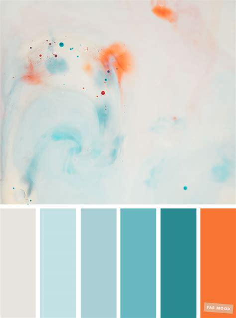 light blue teal  orange colour palette  fab mood wedding colours wedding themes