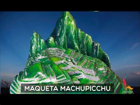 maqueta machupicchu