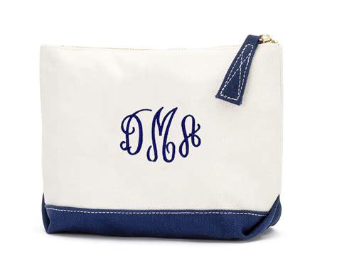 monogram canvas cosmetic bag