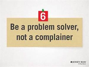 6 Be A Problem Solver