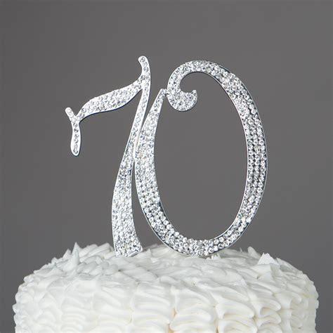 large 70th birthday anniversary number birthday rhinestone tiara crown