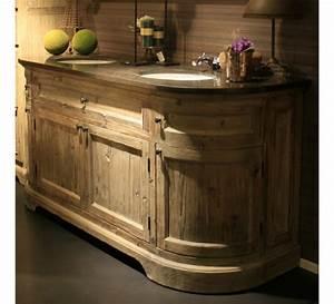 best meuble double vasque industriel photos seiunkelus With petit meuble double vasque