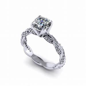cushion cut infinity engagement ring jewelry designs With infinity wedding rings
