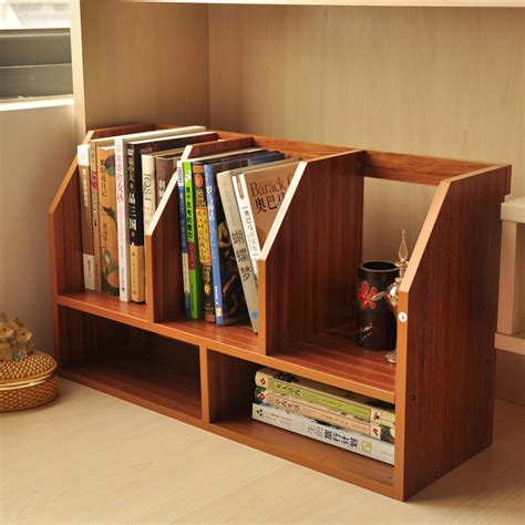 Desktop Bookcase by Simple Wood Table Small Bookcase Bookcase Shelving Office