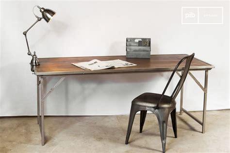 table de bureau pliante table bois métal pliante trémy mobilier design