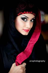 Arabian Black Abaya With Red Embroidery Collection 2012 ...