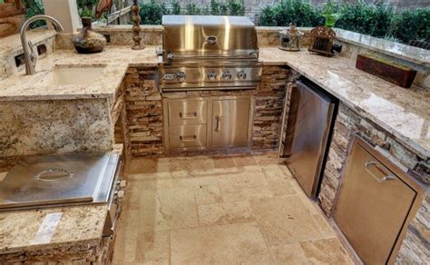 outdoor kitchen granite countertops best outdoor kitchen countertops pros cons compared