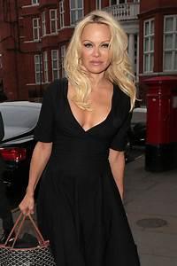 Pamela Anderson - Arriving At Ecuadorian Embassy in London ...