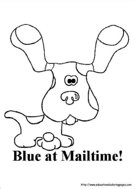 blues clues coloring sheets educational fun kids