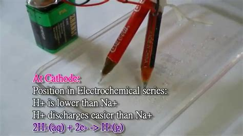 hd electrolysis  concentrated sodium chloride solution detailed explanation youtube