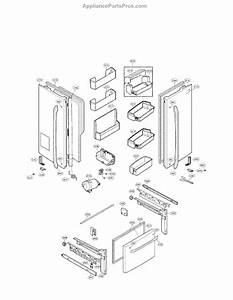 Parts For Lg Lfx21976st01  Door Parts