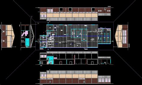project warehouse shop fish  fisheries dwg full