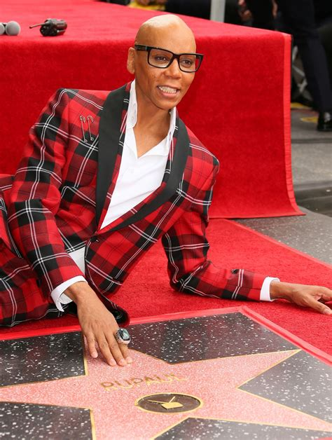 rupaul honored   star   hollywood walk  fame