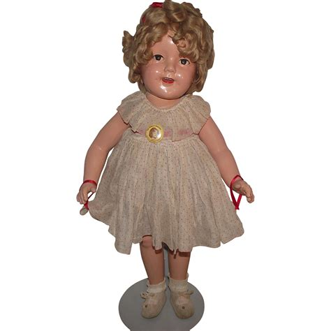 shirley temple doll vintage ideal composition rare size quot shirley temple flirty eyes doll quot from stuckondolls on ruby lane