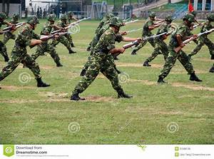 Chinese Army In Hong Kong Garrison Editorial Stock Image ...