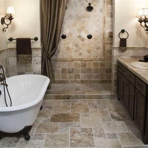 bathroom interior black shower  beige tile wall  dark