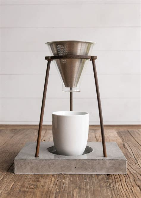 While this coffee maker is not fancy,. Handmade Concrete Modern Pour Over Coffee Stand for Mamas via Handmade Childhoods: The Blog by ...