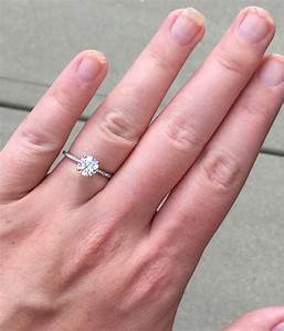 show me your 1 ct engagement rings weddingbee With show me pictures of wedding rings