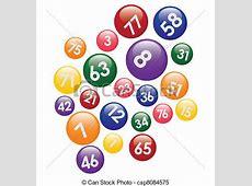 Vecteur Clipart de nombres, balles, loto coloré, loto