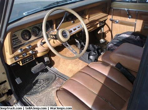 jeep cherokee chief interior 1979 jeep wagoneer lifted cherokee chief in person
