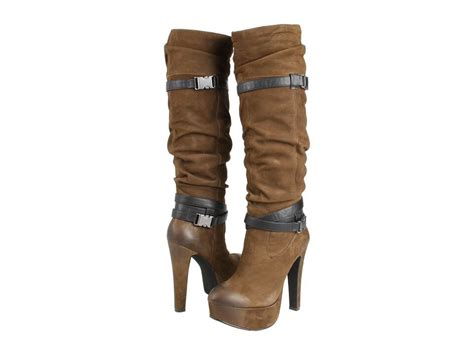 Jessica Simpson Womens Alster Army Brown Platform Knee