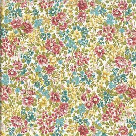 tissu makower liberty pas cher tapis de fleurs et jaune