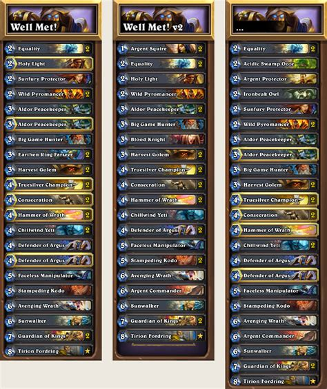 paladin hearthstone deck september 2017 paladin deck