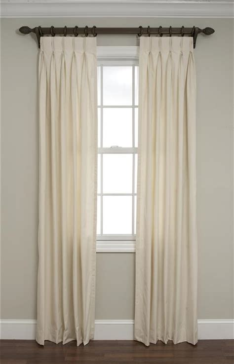calico inverted pinch pleated drapes