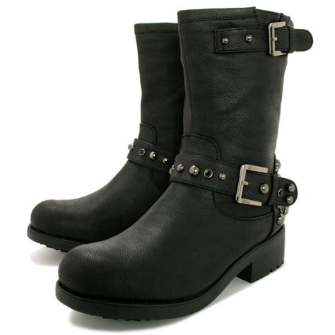 biker ankle boots buy crystal flat stud biker ankle boots black leather style