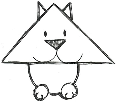 draw  simple cat  simple shapes tutorial