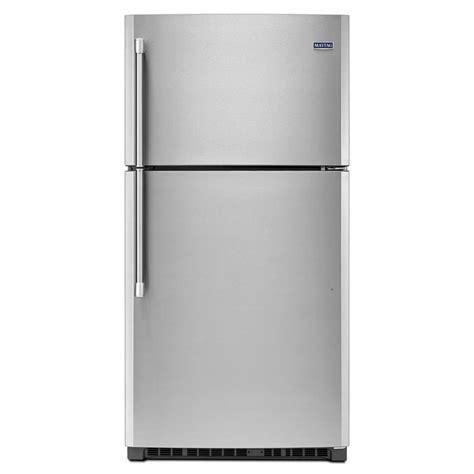 lowes refrigerators sale maytag mrt711bzd 32 75 in 21 2 cu ft top freezer refrigerator lowe s canada