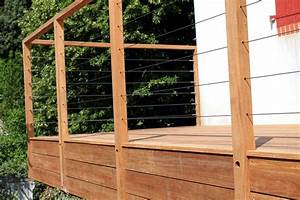Garde De Corps Terrasse : menuiserie terrasses en bois nantes bardage pornic ~ Melissatoandfro.com Idées de Décoration