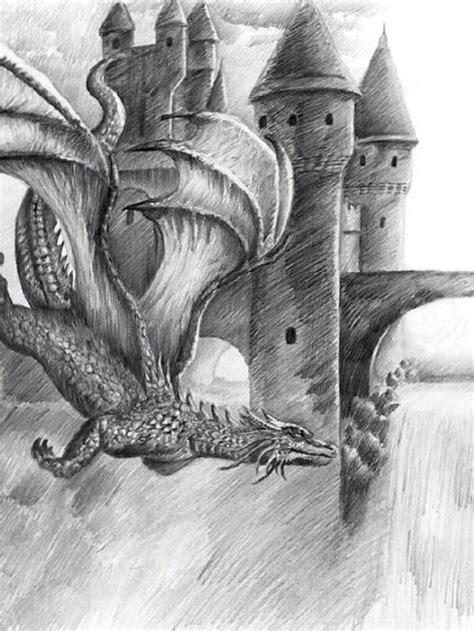 dragoncastle drawing  artwork pinterest drawings