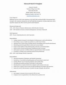 Update Resume Template Free Word 38 Documents